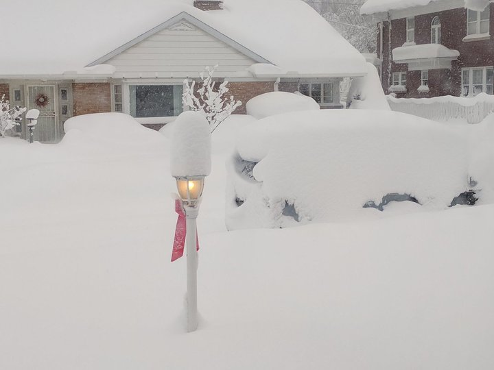The scene in Erie, Pa., at 9 a.m. Tuesday. (Kathy Boetger/Special To The News)