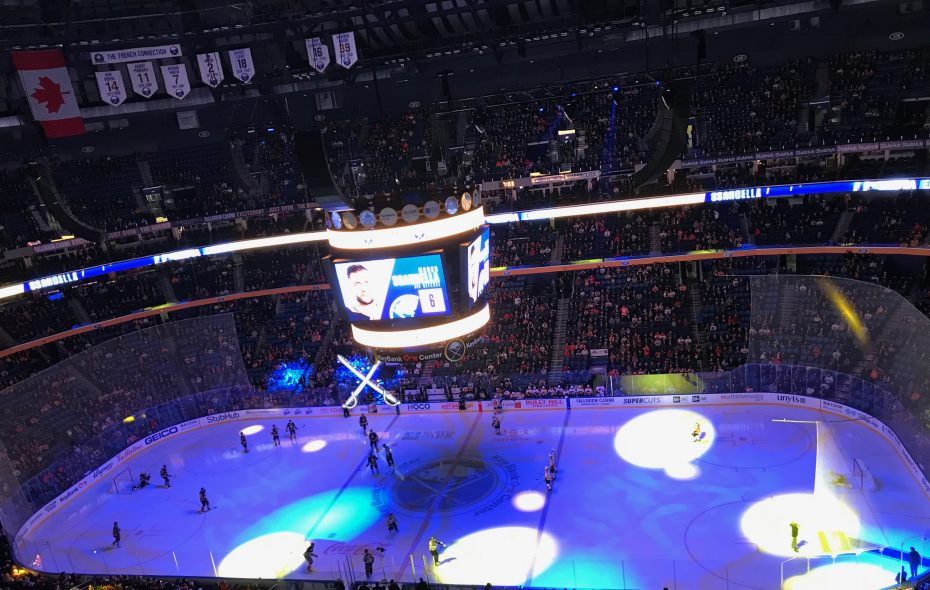 The Sabres hosted the Flyers on Friday in their last home game before the Christmas break. (John Vogl/Buffalo News)
