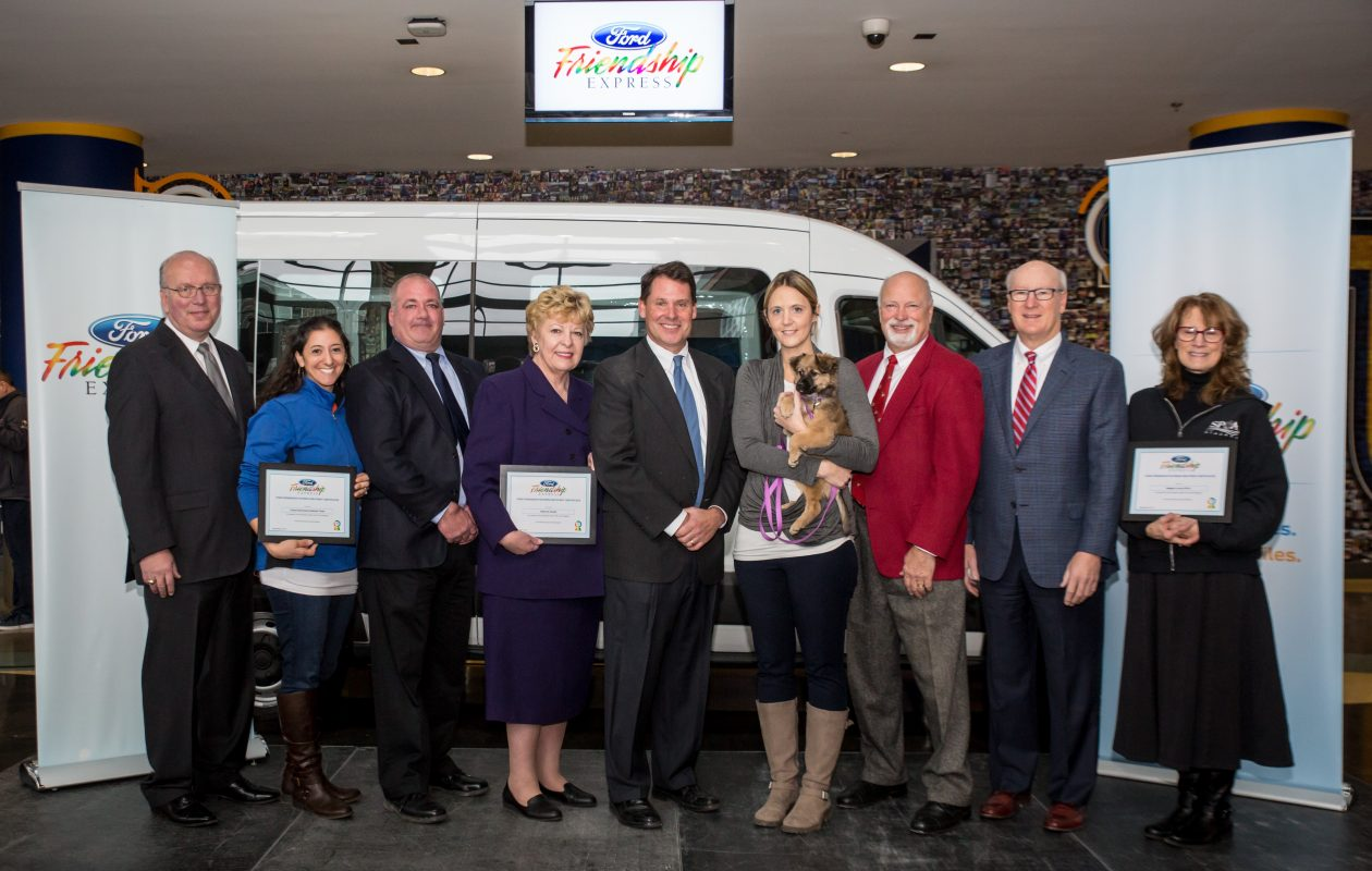 Recipients of the three vans donated in the 2017 Ford Friendship Express program (provided photo)