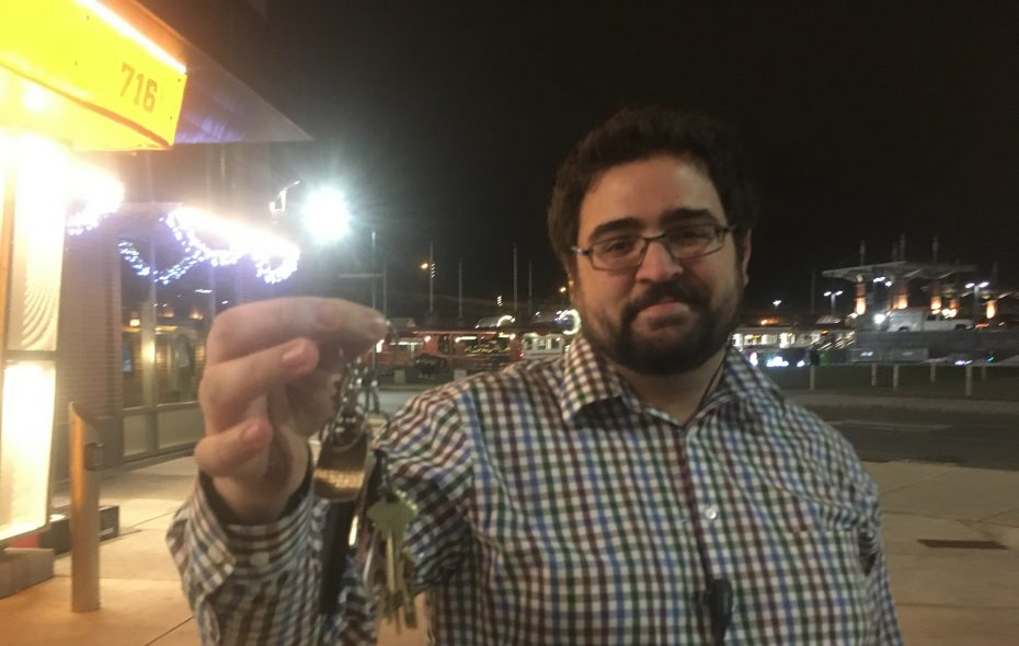 David Clark, manager of 716: On a night when it mattered, the keeper of the keys. (Sean Kirst/The Buffalo News)