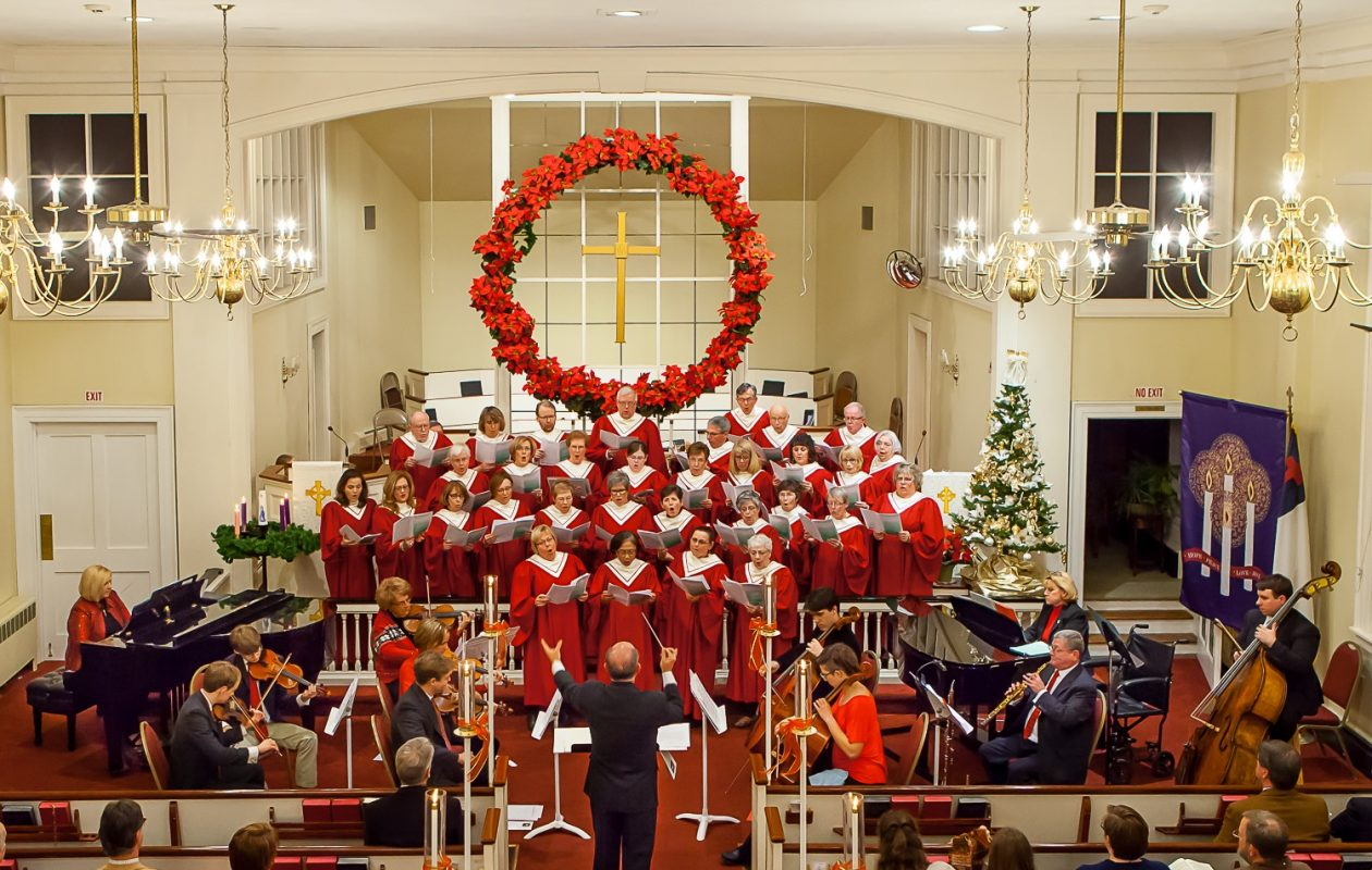 Paul Ferington conducts an annual Christmas Eve concert at Williamsville United Methodist Church.