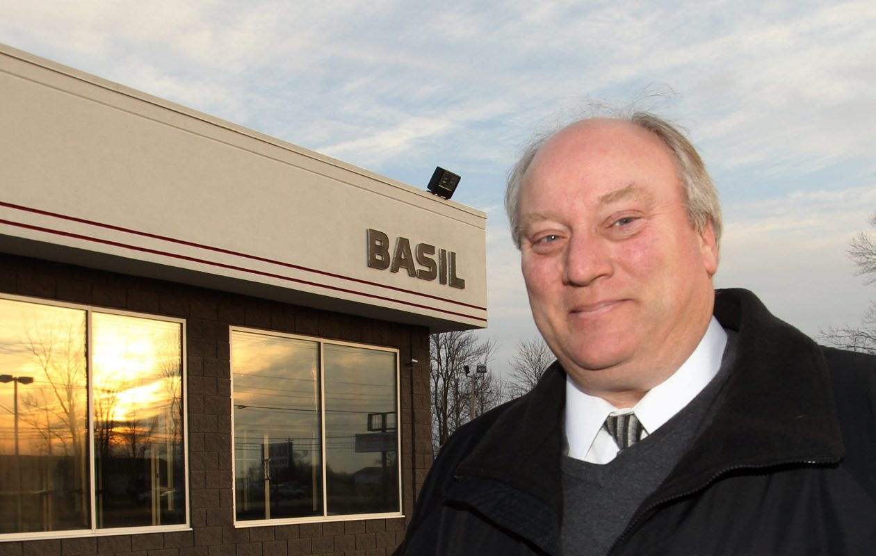 Michael Basil, president of Basil Toyota and  Basil Volkswagen. (James P. McCoy/Buffalo News}