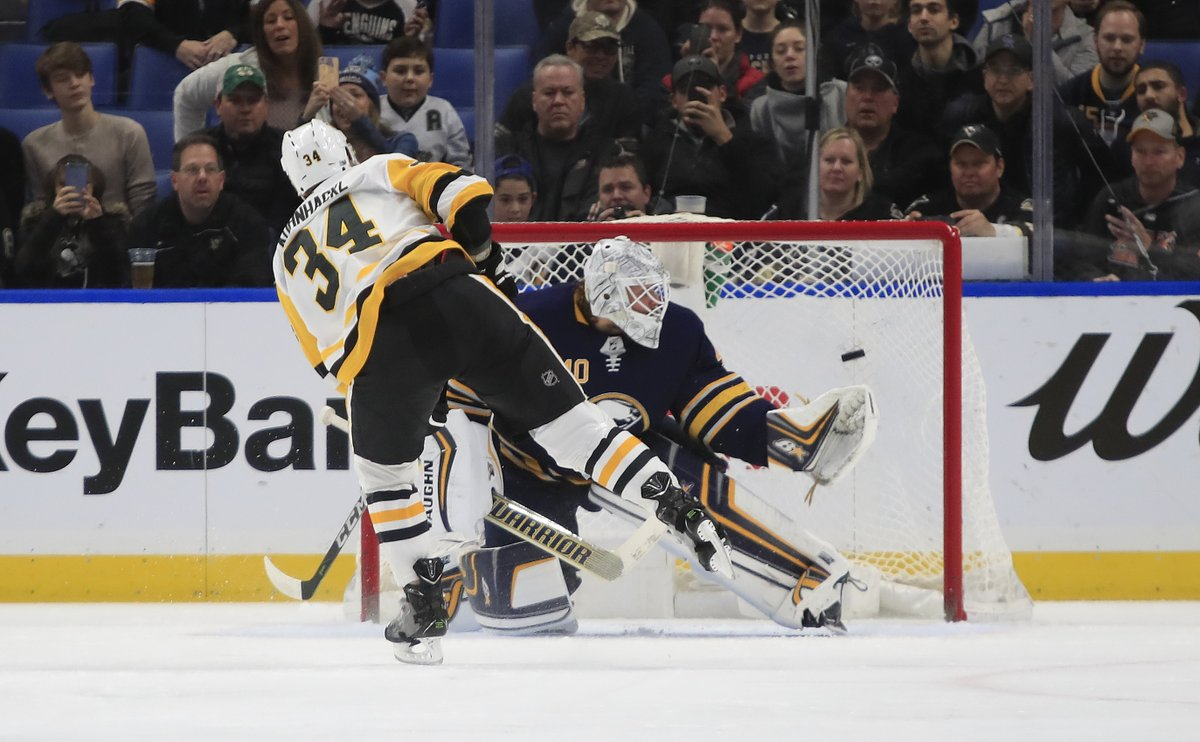 Robin Lehner was beat by Tom Kuhnhackl on a penalty shot for the game's first goal. (Harry Scull Jr./Buffalo News)