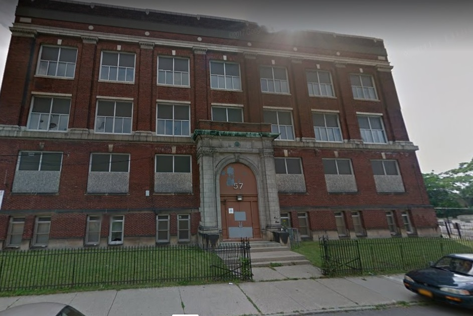The $12.8 million project, known as Hope House, is planned for the former School 57 building at 243 Sears St. (Google image)