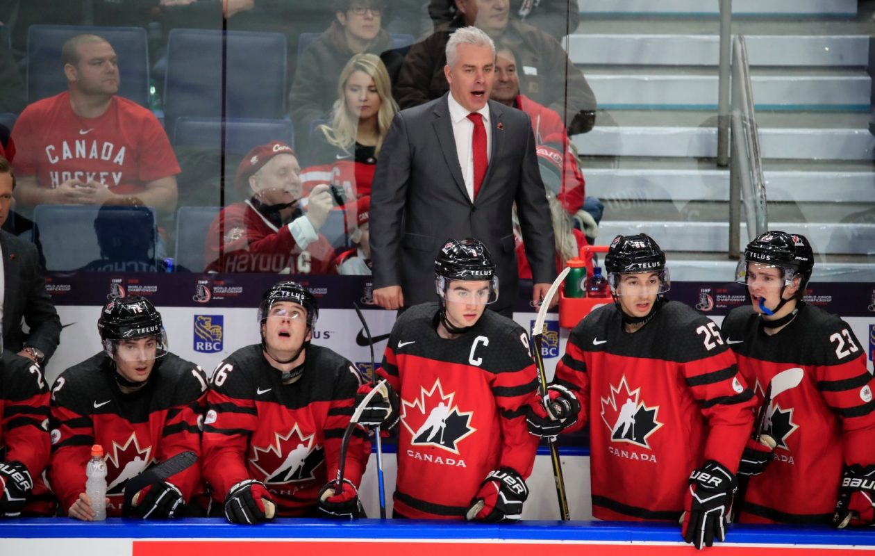 Team Canada, under the guidance of coach Dominique Ducharme, will try to make it two wins in a row to start the World Juniors tournament when it faces Slovakia tonight at KeyBank Center. (Harry Scull Jr./Buffalo News)