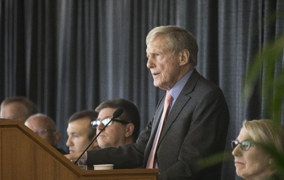 "The late Robert Wilmers of M&T Bank criticized a ""one-size-fits-all"" approach to regulating banks. (Derek Gee/Buffalo News)"