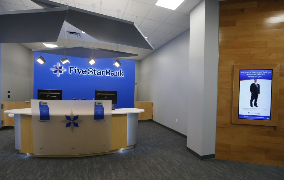 Five Star Bank's parent company is Financial Institutions Inc. (News file photo)