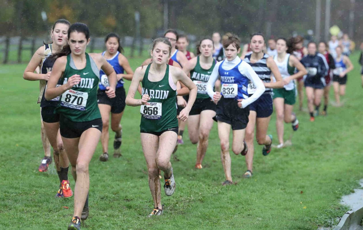 Runner compete at the All-Catholic Championships at Knox Farms in East Aurora.  (James P. McCoy/Buffalo News)