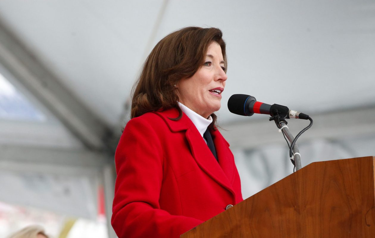 Lt. Gov. Kathy Hochul says she's running for re-election. (Derek Gee/Buffalo News)
