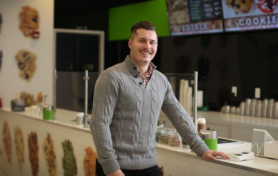Joseph Francabandiero brought the edible cookie-dough craze to Western and Upstate New York. (Derek Gee/Buffalo News)