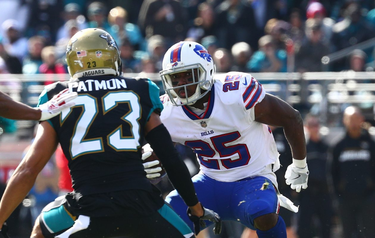 Bills running back LeSean McCoy played through an ankle injury to gain 119 yards from scrimmage Sunday against Jacksonville. (James P. McCoy/Buffalo News)