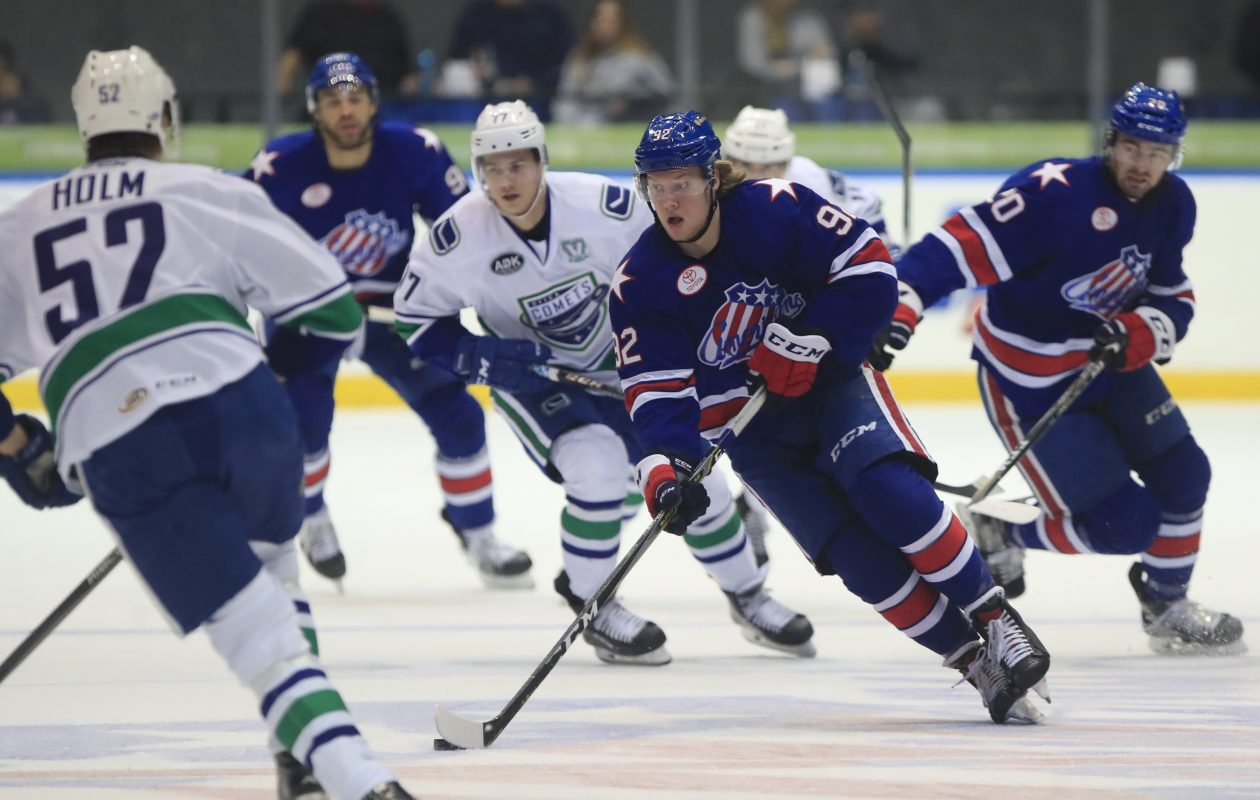 Alexander Nylander has benefited from being around veterans in Rochester. (Harry Scull Jr./Buffalo News)