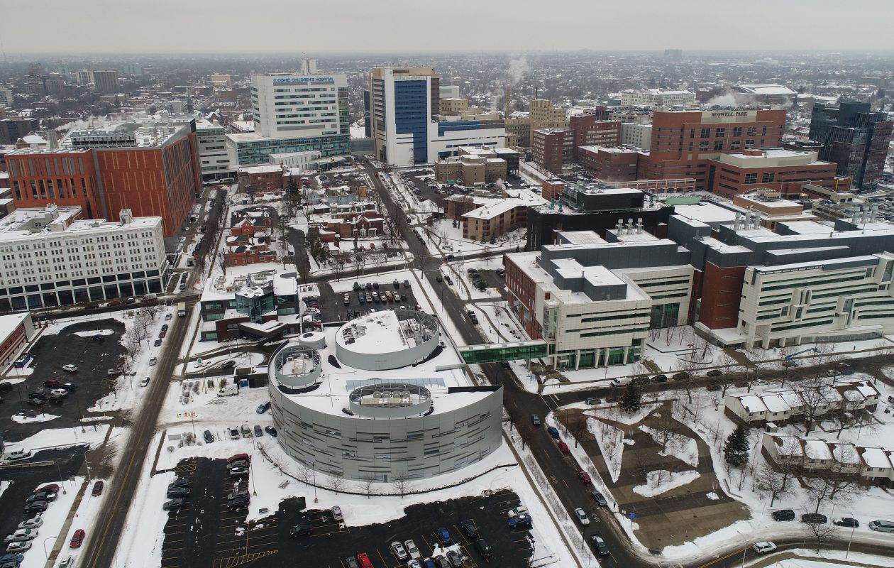The Buffalo Niagara Medical Campus is expected to have 16,000 workers this year after the opening of Oishei Children's Hospital and the University at Buffalo's Jacobs Schools of Medicine and Biomedical Sciences. (Derek Gee/Buffalo News)