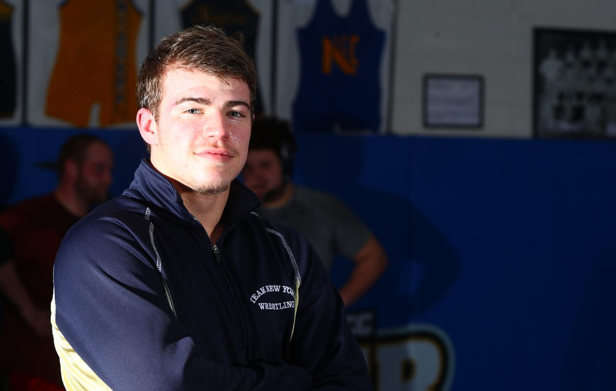 Troy Keller of Niagara County Community College wrestling will try to claim a national title in February.  (James P. McCoy / Buffalo News)