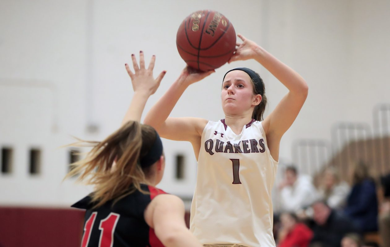 Lily Flannery shoots for Orchard Park during its recent game against Clarence. (Harry Scull Jr./ Buffalo News)