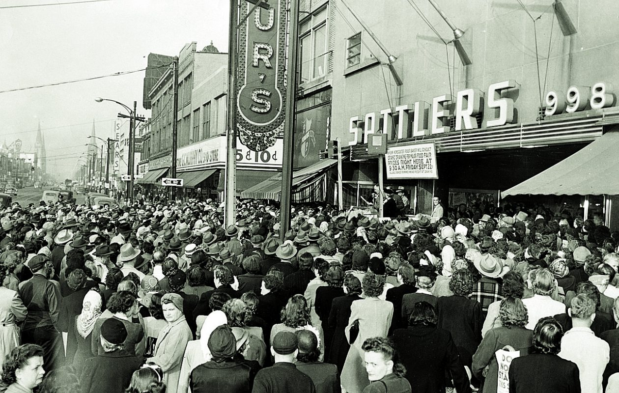 While old-time department stores like  Sattlers may be things of the past, Boscov's could be a reason for hope for the rebirth of the department store. (Buffalo & Erie County Historical Society)