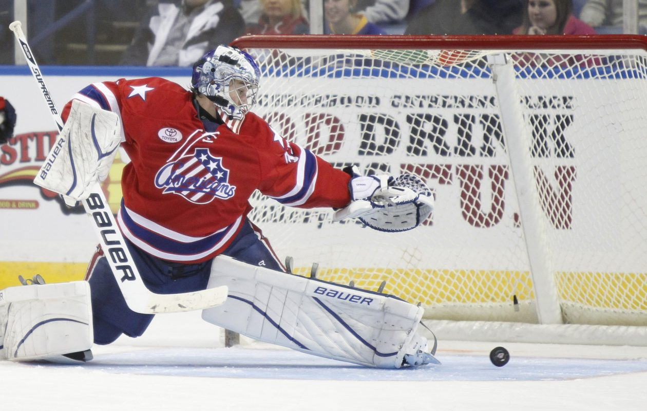 David Leggio played for the Rochester Americans from 2011 to 2013. (News file photo)