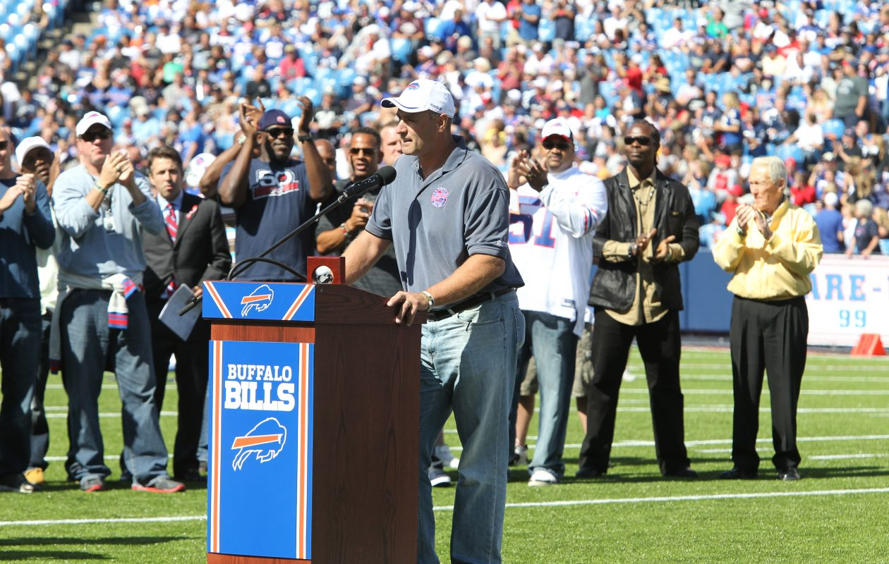 Bills Wall of Famer Phil Hansen is happy the Bills are back in the playoffs. (James P. McCoy/Buffalo News file photo)