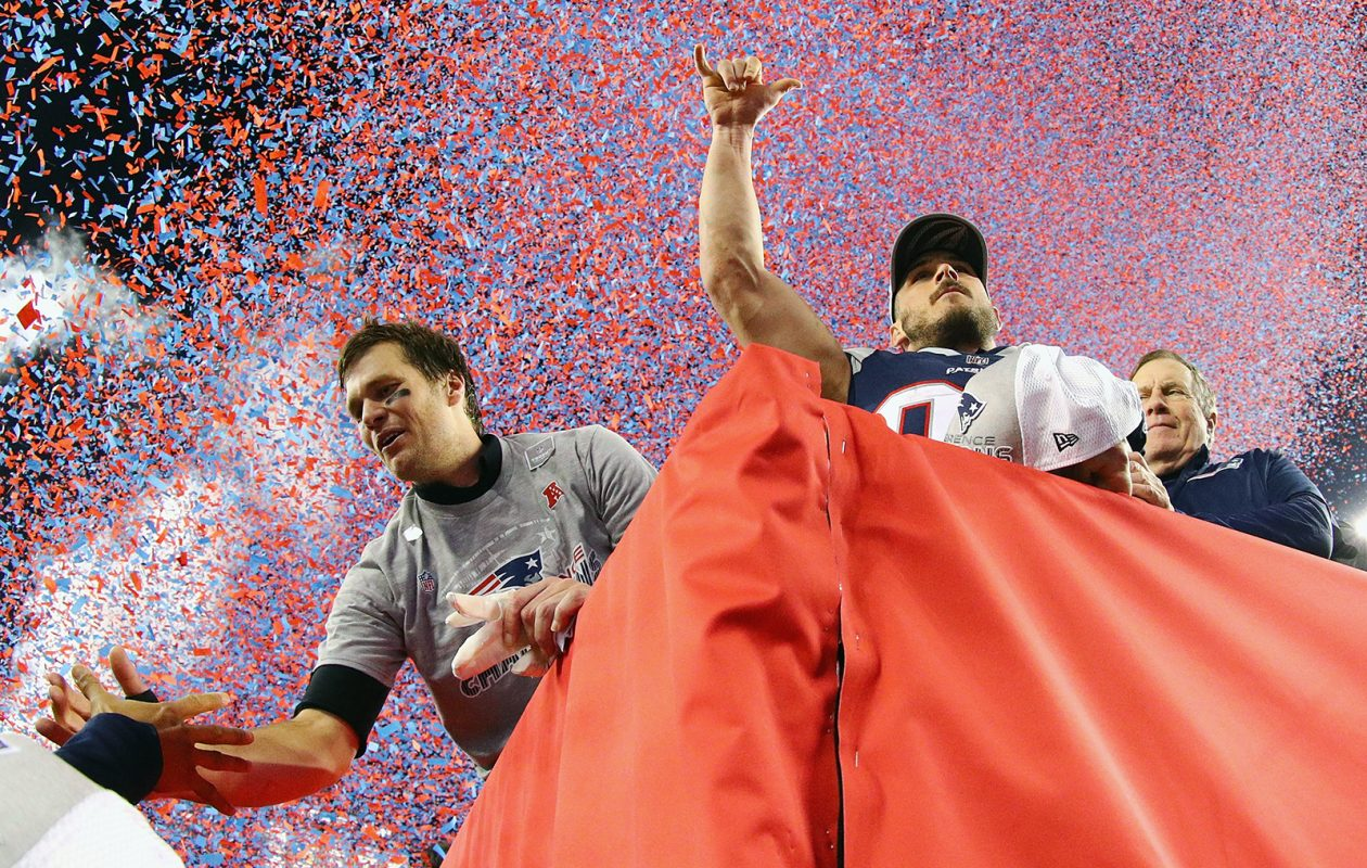 It was another celebration for Tom Brady and the New England Patriots. (Maddie Meyer/Getty Images)