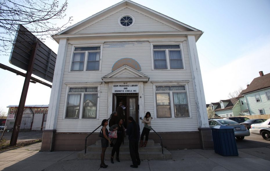 The Adam Mickiewicz Library and Dramatic Circle, 612 Fillmore Ave., will be the start and end point on Sunday for Snow Roll VIII. (Buffalo News file photo)