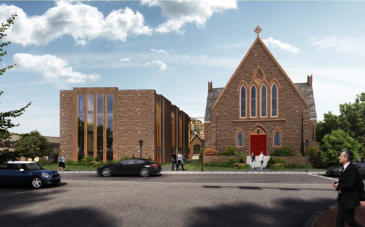A rendering of proposed Ascension Church project.