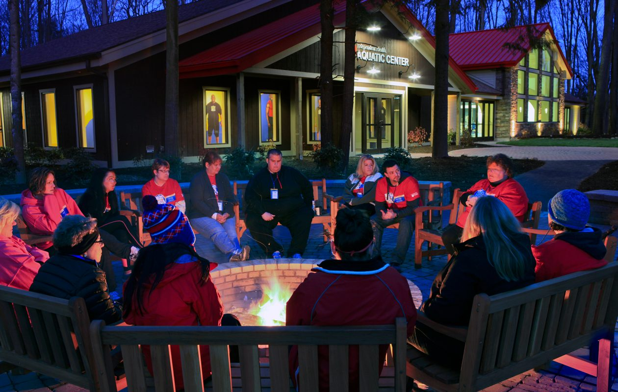 Nightly bonfires are a part of the Biggest Loser experience. (Biggest Loser Resort Niagara)