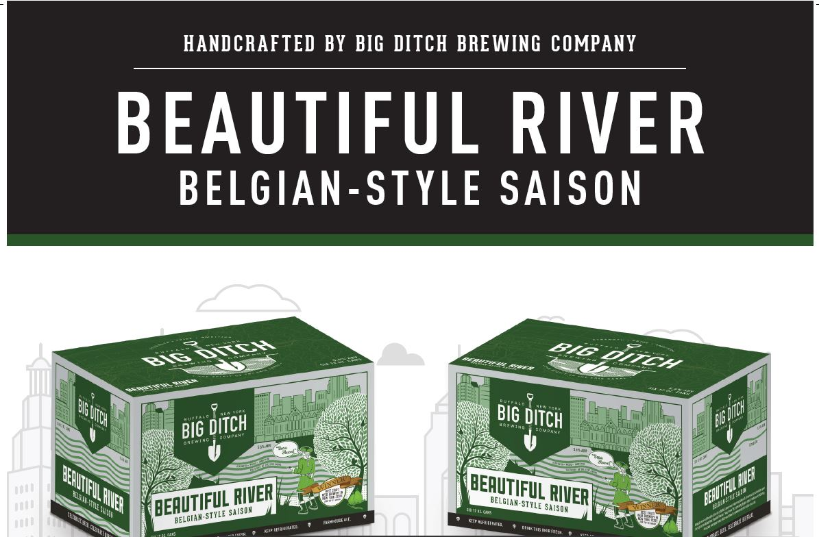 Big Ditch Brewing Company's Beautiful River is a peppery pear saison. (via Big Ditch)
