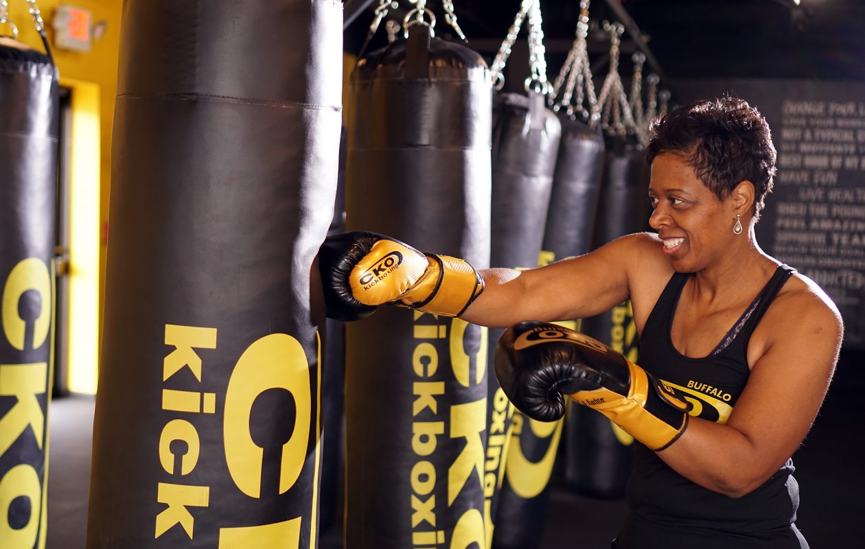 Deborah Howard is the co-owner of CKO Kickboxing, a newly opened fitness studio that offers cardio-based group exercise. (Dave Jarosz)