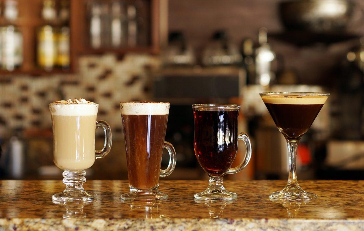 Get your caffeine fix with a Caffe Aroma cocktail: Cafe Italiano, Irish Coffee, Gaelic coffee and Aroma Martini. (Dave Jarosz)