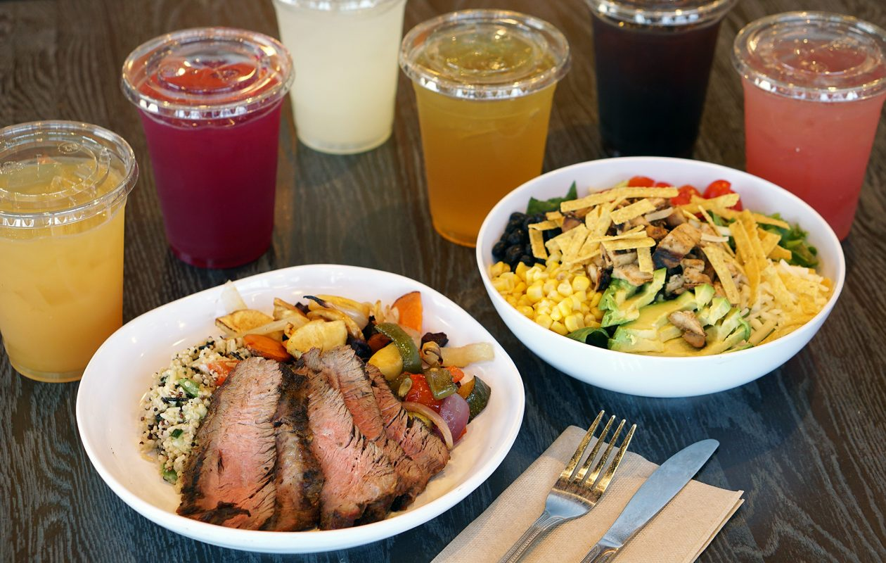 CoreLife Eatery offers green bowls, grain bowls and broth bowls with responsibly-sourced ingredients, plus drinks like apple cider green tea and beet lemonade. (Dave Jarosz)
