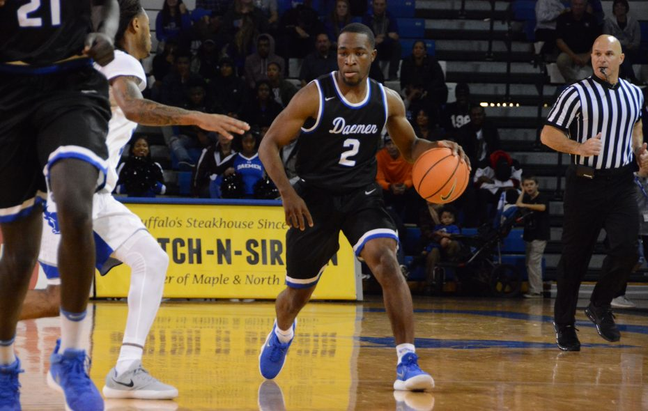 Breon Harris, pictured, and the Daemen Wildcats have won six straight games and are ranked No. 10 in the latest East Region rankings. (Photo courtesy of Daemen Athletics)