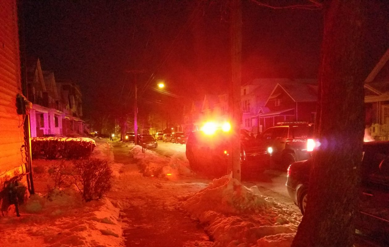Buffalo Police are on the scene of a reported shooting. (Harold McNeil/Buffalo News)