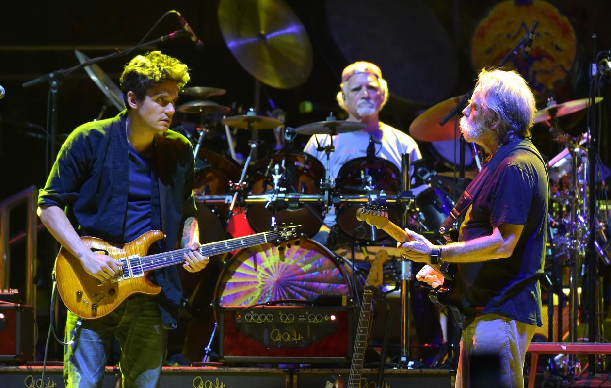 John Mayer, Bill Kreutzmann and Bob Weir of Dead & Company are pictured performing in Madison Square Garden in 2015. (Theo Wargo/Getty Images)