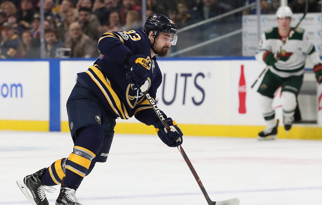 Defenseman Victor Antipin has four assists in 24 games with the Sabres. (Getty Images)