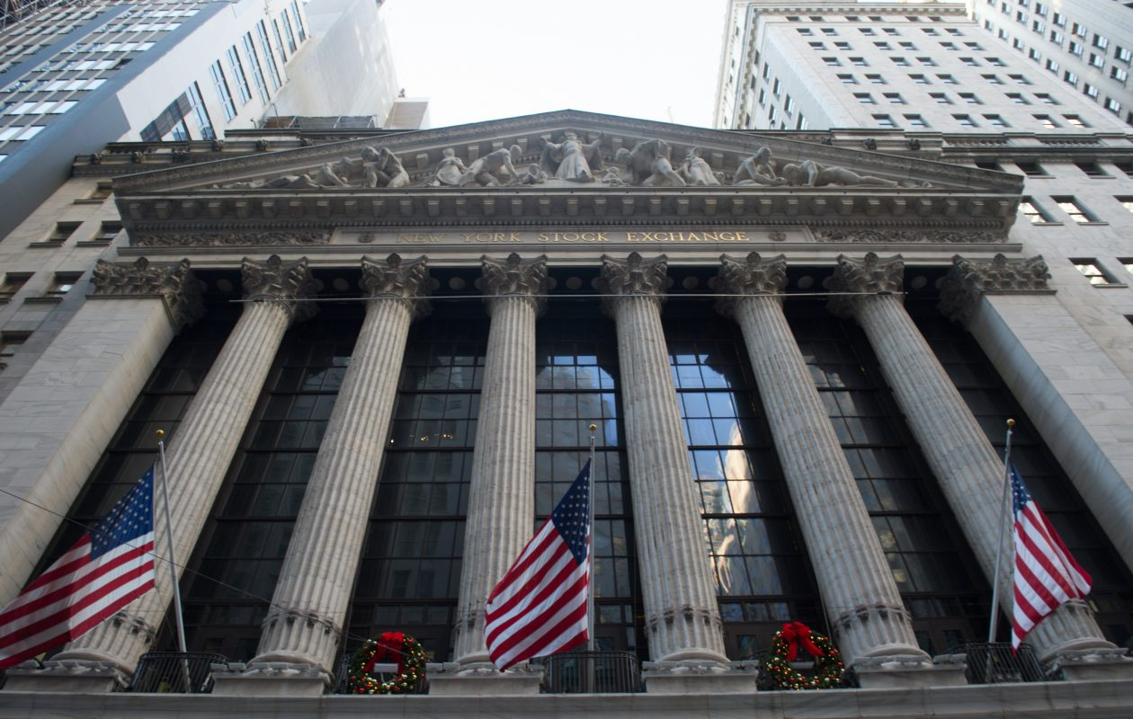 The New York Stock Exchange. (BRYAN R. SMITH/AFP/Getty Images)
