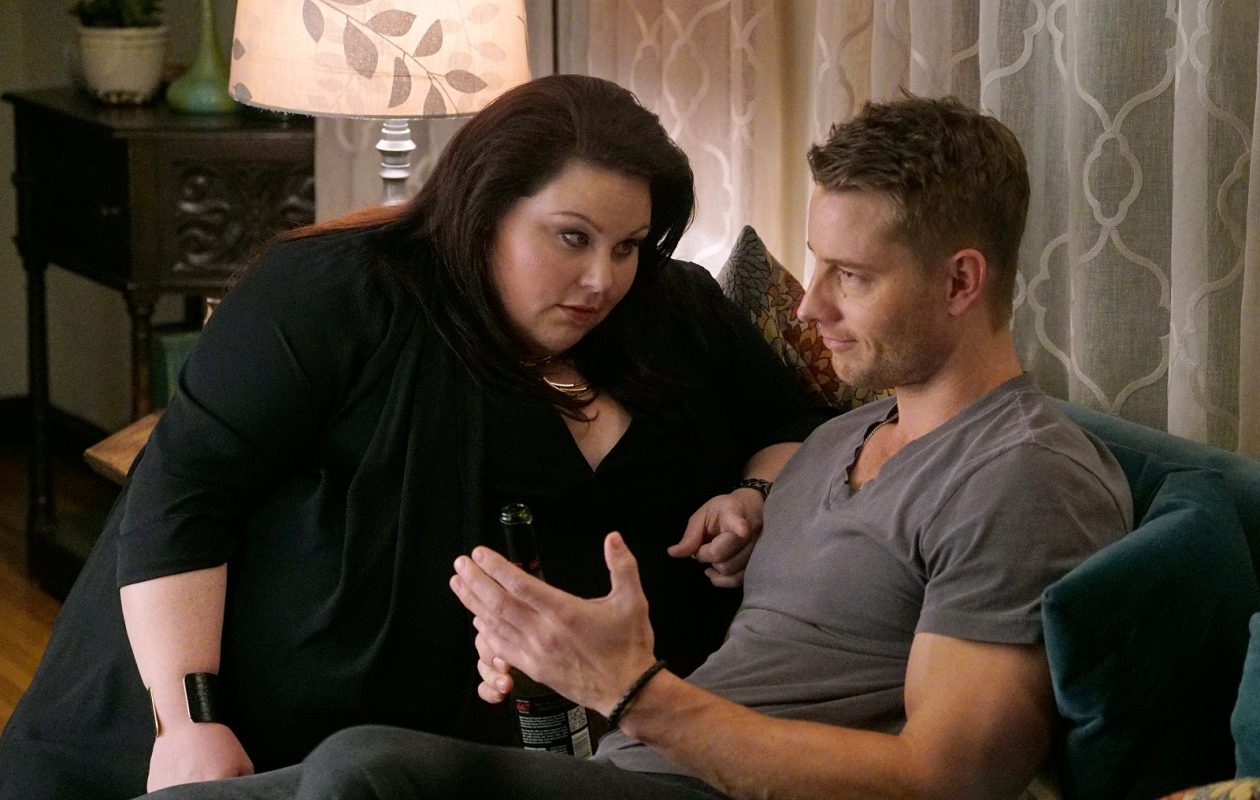 Chrissy Metz as Kate, left, and Justin Hartley as Kevin in a scene from 'This Is Us.' (Paul Drinkwater/NBC)