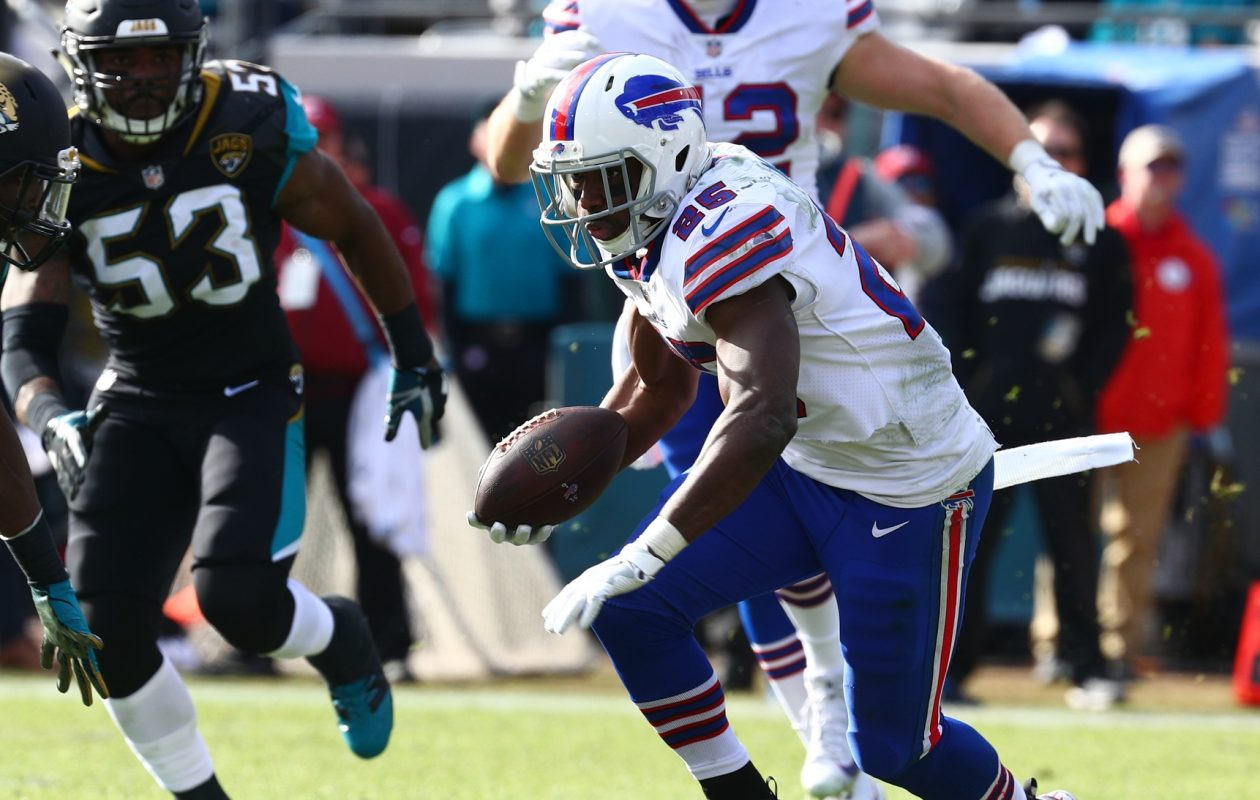 Bills running back LeSean McCoy was by far the team's best offensive player in 2017. (James P. McCoy / Buffalo News)