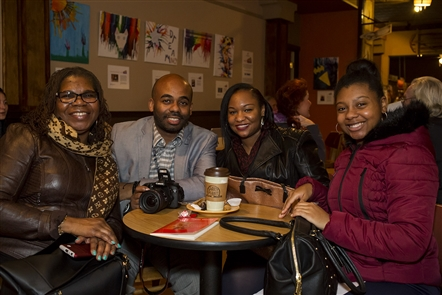 Smiles at Daily Planet Coffee three-year anniversary