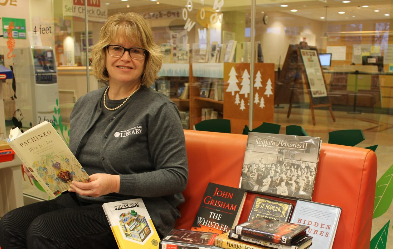 Buffalo and Erie County Public Library Director  Mary Jean Jakubowski showcases the top reads of 2017. (Courtesy of Buffalo and Erie County Library)