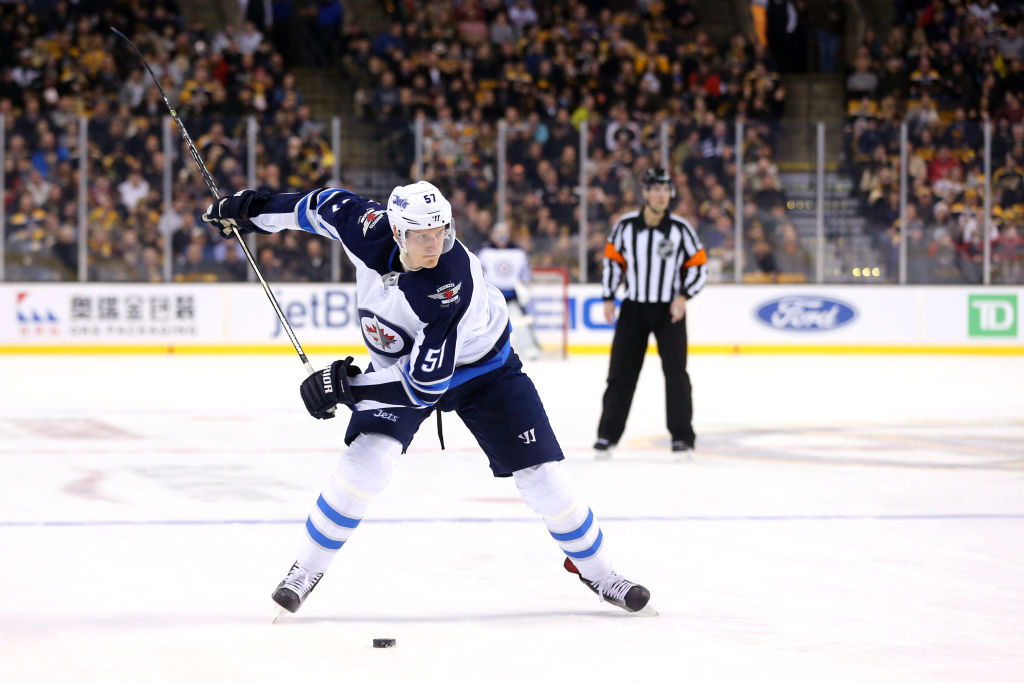 Tyler Myers has five goals and 19 points for the Jets this season (Getty Images).