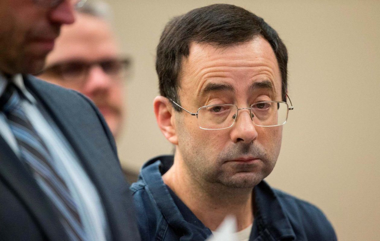"""""""Dr. Nassar was not a doctor,"""" Olympic gold medalist McKayla Maroney said. """"He in fact is, was, and forever shall be a child molester, and a monster of a human being.' (Getty Images)"""
