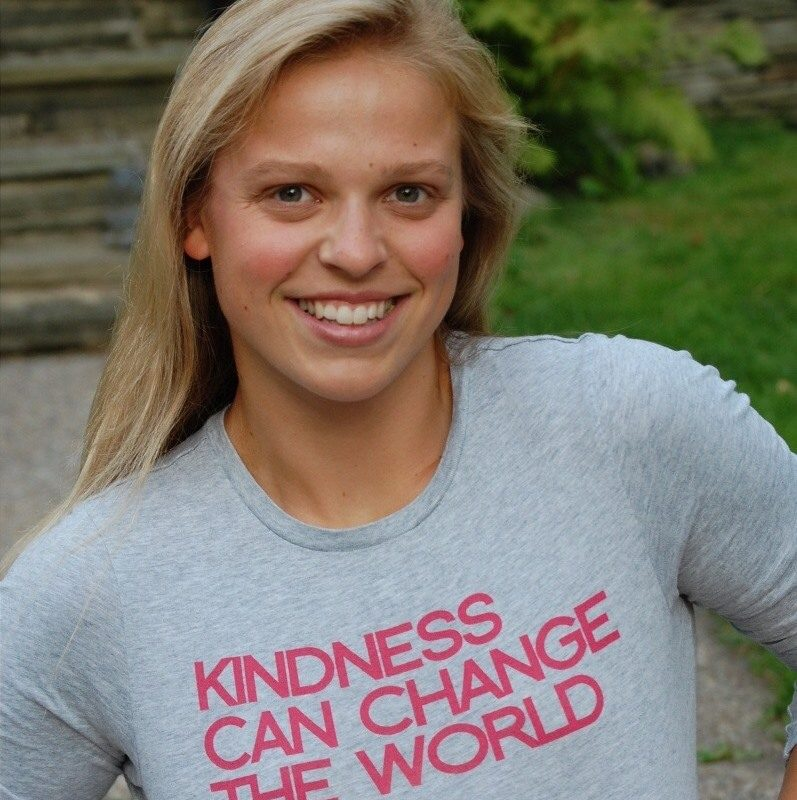 "Natalie Lewis, who went to St. Rose of Lima School and Nardin Academy, was 24 when she was killed in a hot air balloon in Virginia. Here, she is wearing one of her favorite shirts with the phrase ""Kindness can change the world,"" according to her mother, Trish Lewis. (Provided by Trish Lewis)"