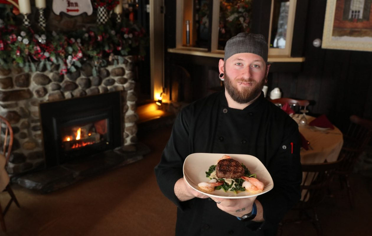 The Old Orchard Inn Chef Dominic Licata presents the Cab Calloway. (Sharon Cantillon/Buffalo News)