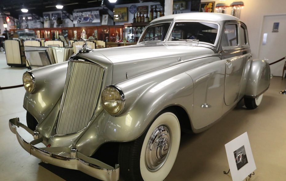 The 1933 Pierce Arrow Silver Arrow was the finest Pierce Arrow ever made.  Only five were produced, with just three still in existence. This Silver Arrow is on loan for 2018 from a private owner. (Sharon Cantillon/Buffalo News)