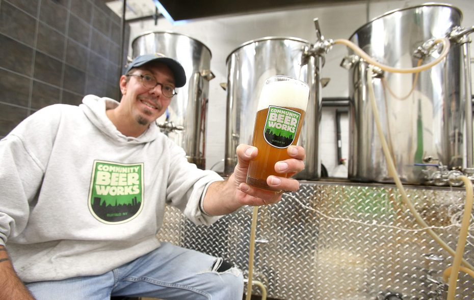 Community Beer Works co-founder Ethan Cox is happy the Niagara Falls project is in a larger space. (Robert Kirkham / Buffalo News file photo)
