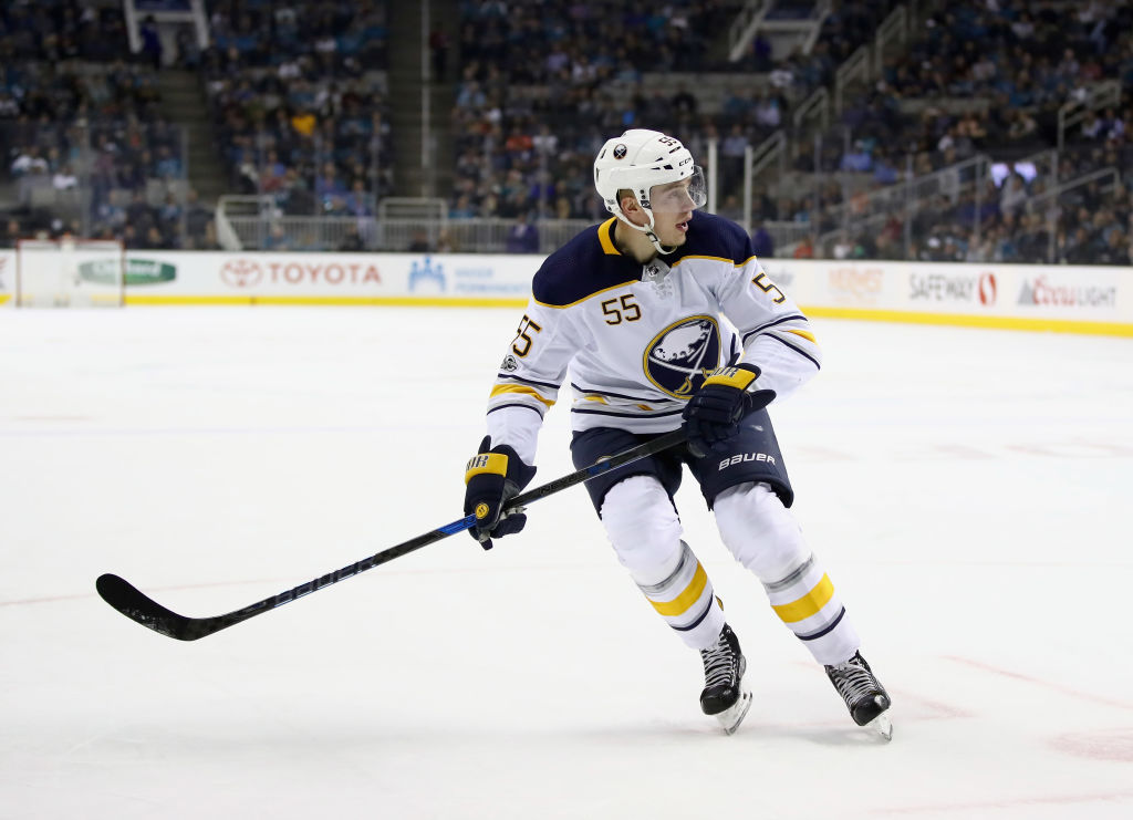 Rasmus Ristolainen got a game misconduct in the first period Thursday (Getty Images).