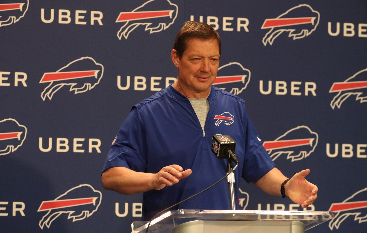 Buffalo Bills offensive coordinator Rick Dennison wasn't Sean McDermott's first or second choice when he took the Bills job last January. (James P. McCoy/News file photo)