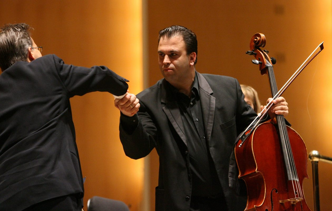 Roman Mekinulov, here in 2008, was the featured soloist during Friday's BPO concert. (News file photo)