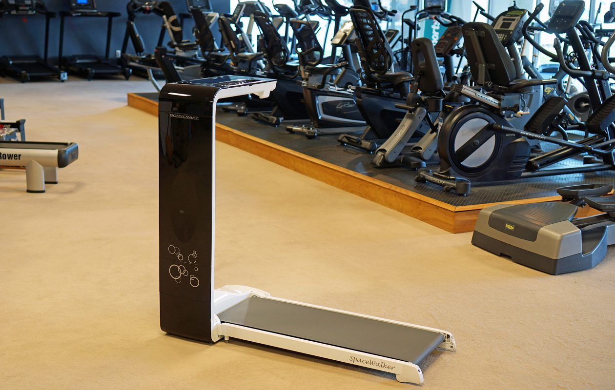 The Spacewalker treadmill by Bodycraft, which folds up to save space, sells for under $800 at Pacillo's.  (Dave Jarosz)