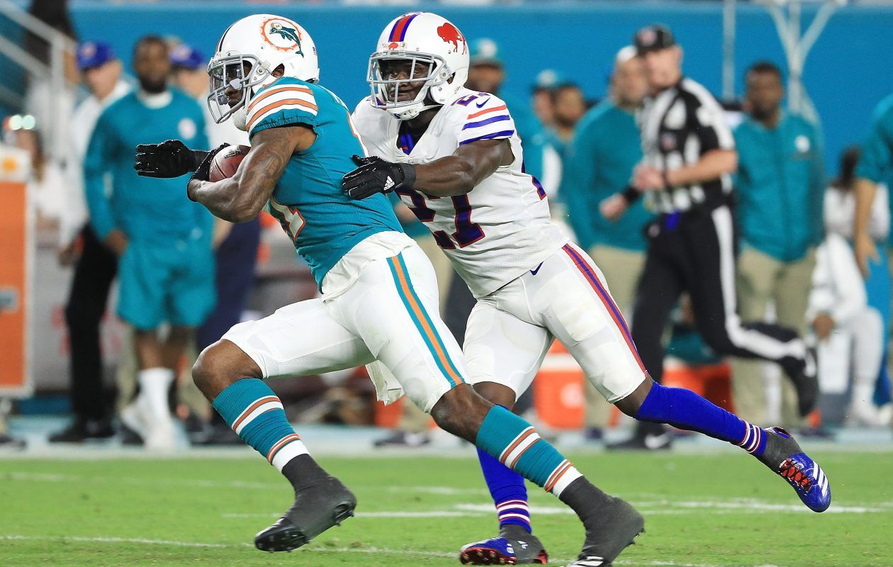 Tre'Davious White stepped right into Buffalo's defense and had an excellent rookie campaign. (Mike Ehrmann/Getty Images)